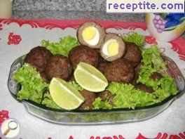 Meatballs with quail eggs