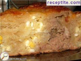 Banitsa with two fillings