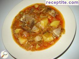 Stew with pig hearts