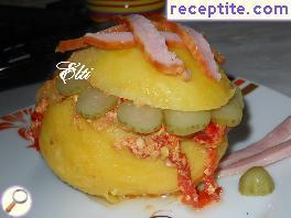 Stuffed potatoes with cap