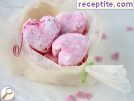 Marshmallow candies (Marshmallows) with egg white
