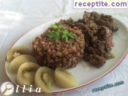 Buckwheat with chicken liver
