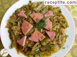 Green beans with sausage