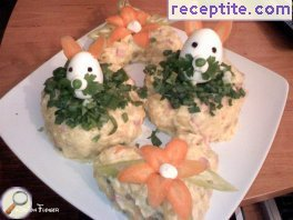 Salad Easter bunny