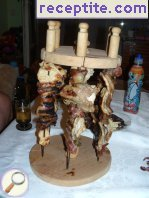 Shashlik of mixed meat