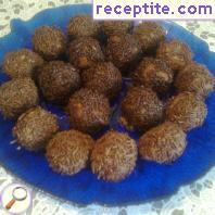 Chocolate truffles with mint