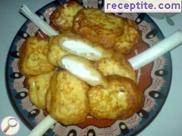 Breaded feta cheese without egg