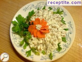 Salad with buckwheat and cottage cheese