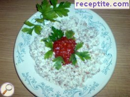 Salad with buckwheat and cottage cheese - II type