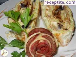 Roll zucchini and eggplants