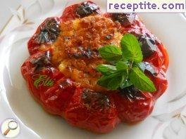 Stuffed vegetables with beans
