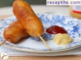 Home corn dog (Homemade corn dogs)