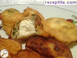 Breaded feta cheese with garlic and parsley