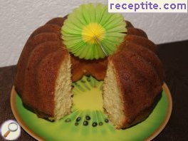 Juicy sponge cake from Limena and coconut