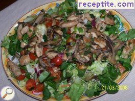 Salad with turkey breast