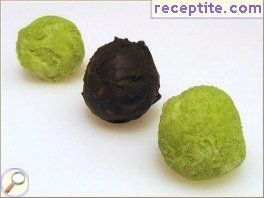 Chocolate truffle with green tea