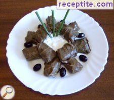 Dolmas vine leaves - II type