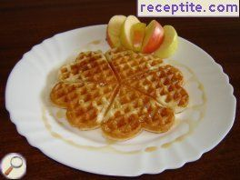 Waffles with apples