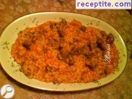 Lamb pilaf in Turkish