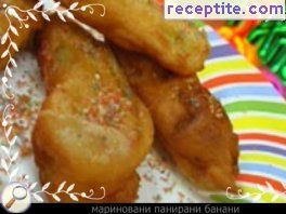Marinated fried bananas with coconut