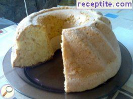 Sponge cake with lemon