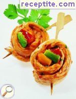 Chicken fillet on a skewer, sweet-sour-spicy