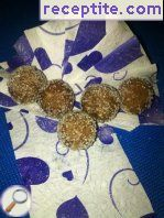 Cocoa balls with walnuts