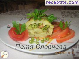 Potato roll stuffed with peas