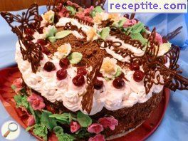 Black Forest cherry layered cake