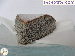 Cake with poppy seed