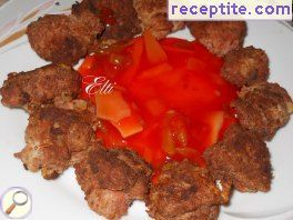 Meat balls in sour-sweet sauce