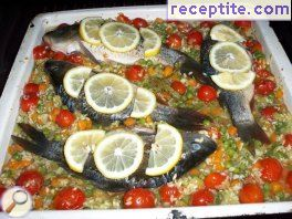 Fish with vegetables in the oven