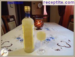 Homemade limoncello Palermo
