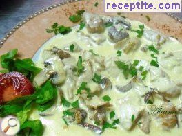 Turkey with mushroom sauce Bearnaise
