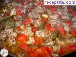 Lamb with peppers and sage