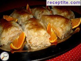 Yaniotiko (Baklava, stuffed with kadaif)