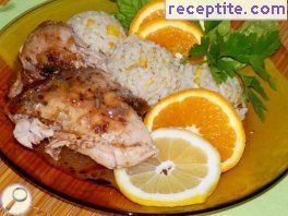 Chicken with citrus and garlic