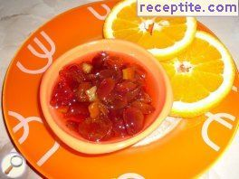 Jam cherries and orange peels