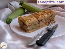 Minced meat with rice puff pastry