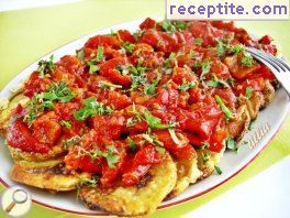 Zucchini with peppers and tomatoes