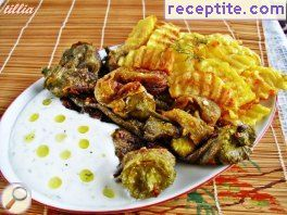 Fried peppers and potatoes