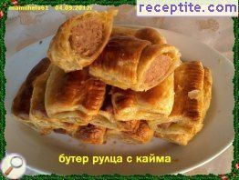 Butter rolls with minced meat