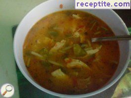 Tomato soup with chicken