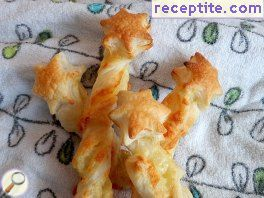 Magic sticks of puff pastry
