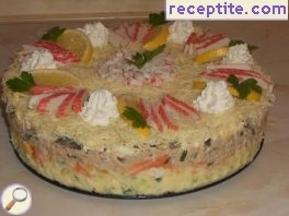Fish layered cake