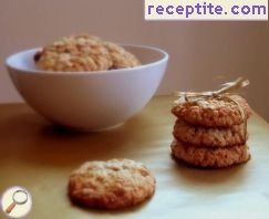Caramel cookies with oatmeal