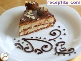 Cocoa layered cake without eggs