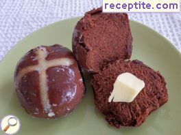 Chocolate buns Hot Cross Buns