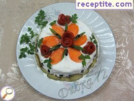 Vegetarian mini layered cake
