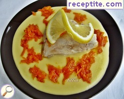 Chicken Fricassee with carrot sauce
